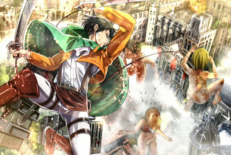levi attack on titan fan art 01