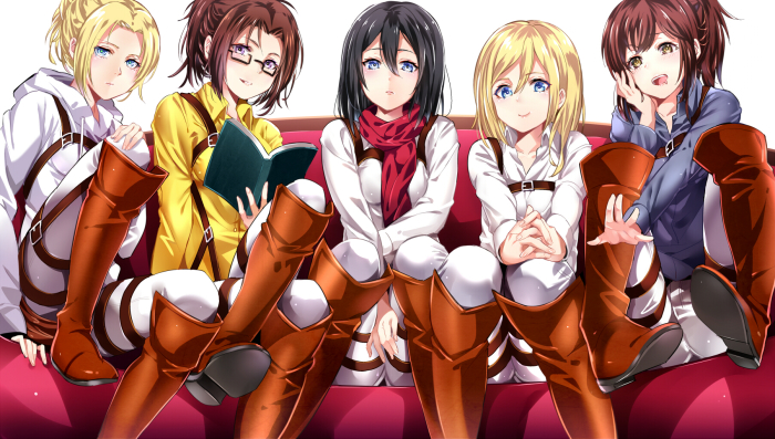 attack on titan ladies fan art