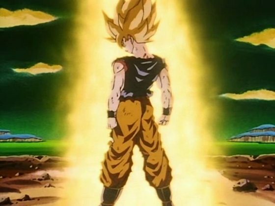 dragonball goku super saiyan first time