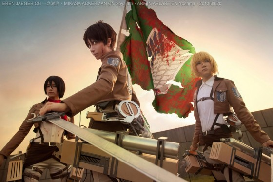 attack of titan cosplay Eren02