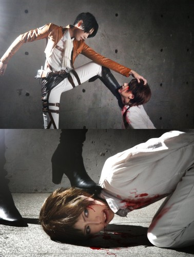 attack of titan cosplay Eren06