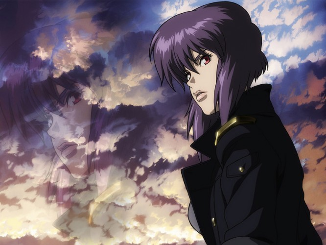 ghost-in-the-shell-motoko-kusanagi-wallpaper-666x500 Top 10 Anime Girls with Purple Hair