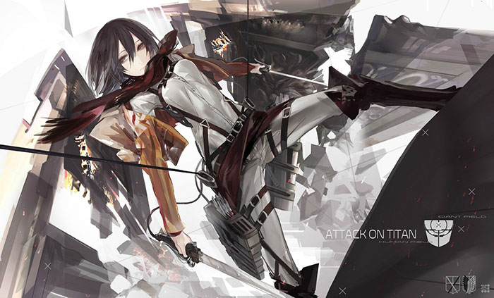 Attack on Titan mikasa fan art