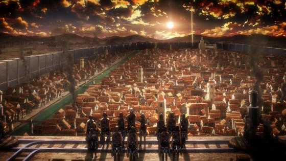 attack on titan the wall and the city