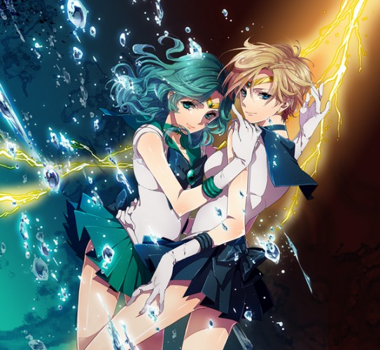 sailor uranus sailor neptune fan art