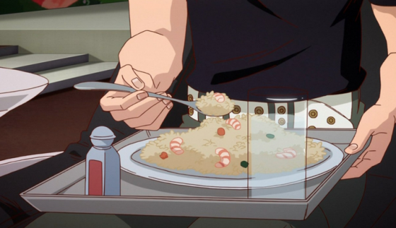 tiger-and-bunny-fried-rice-560x323 [Anime Culture Monday] Anime Recipes! - Kotetsu's Everything Fried Rice (Tiger & Bunny) & Usagi/Serena's Cookies (Sailor Moon)?