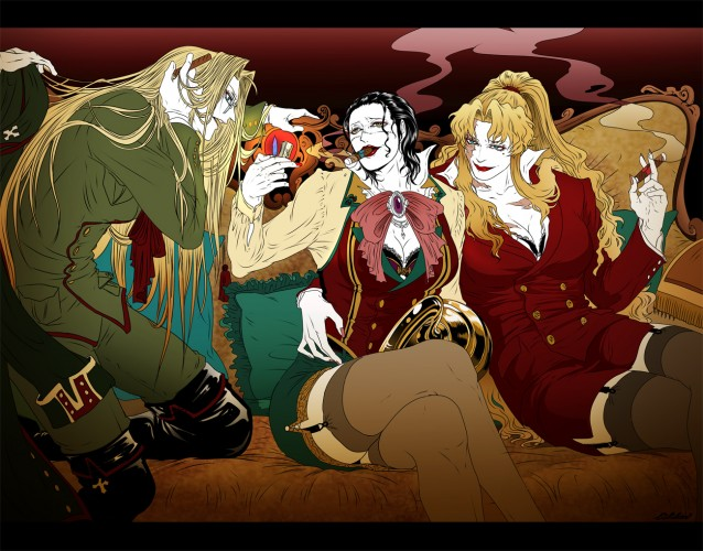 Crocodile one piece,Integra Hellsing,Balalaika Black Lagoon Fan Art