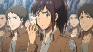 attack on titan-sasha-eating