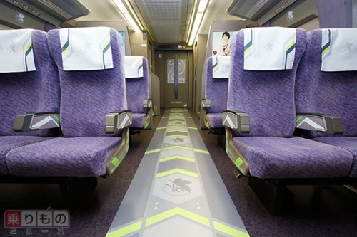 evangelion-shinkansen-500x333 The Evangelion Bullet Train Looks Just as Cool on the Inside