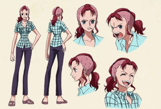 5 - Bellemare - One Piece - Mohawks  Top 10 Girl Hairstyles in Anime.