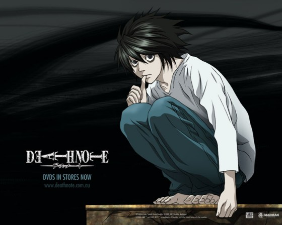 """Death-Note-Wallpaper-560x448 [Honey's Crush Wednesday] Top 5 """"L"""" Highlights  (Death Note)"""