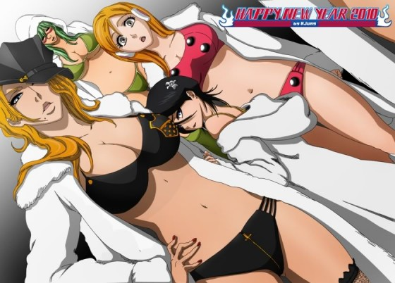 bleach girls matumoto rangiku wallpaper