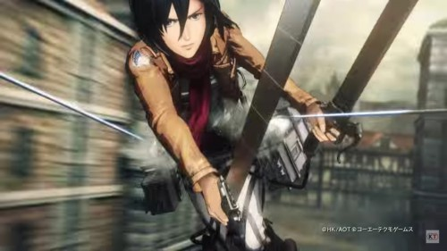 mikasa-game-500x281 Attack on Titan Game, New Trailer Released!