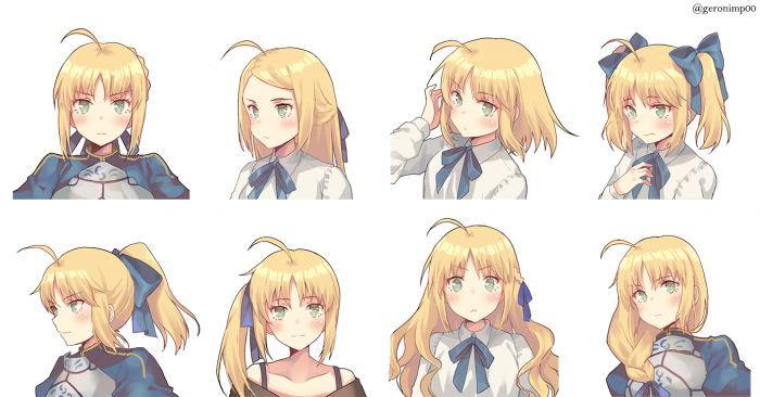 saber fate:staynight fate:zero fan art