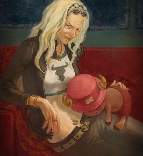 Doctor Kureha & tony tony chopper One Piece fan art