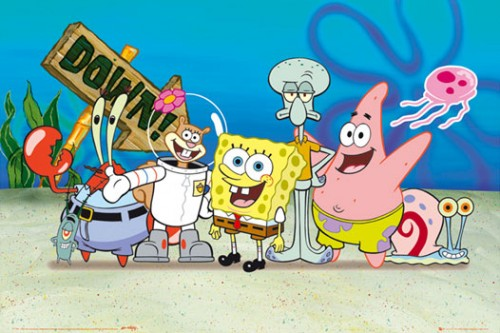 ET Anime vs Cartoon spongebob