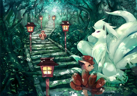 kyuukon-nine-tailed-fox-pokemon-fan-art-500x500 Top 10 Anime Animals/Creatures that You Want as Your Pet