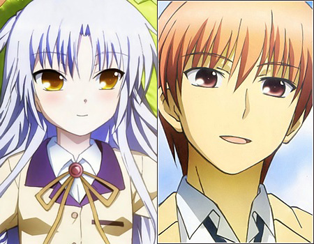Yuzuru-Otonashi-&-Kanade-Tachibana-(Angel-Beats!)