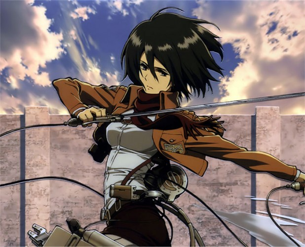 attack on titan mikasa fanart wallpaper