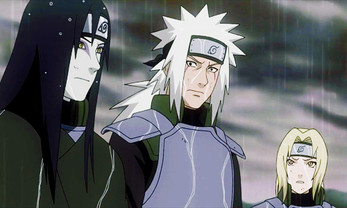 Naruto and Sasuke Their Mentors