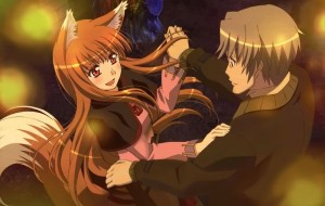 Holo Spice and Wolf Wallpaper