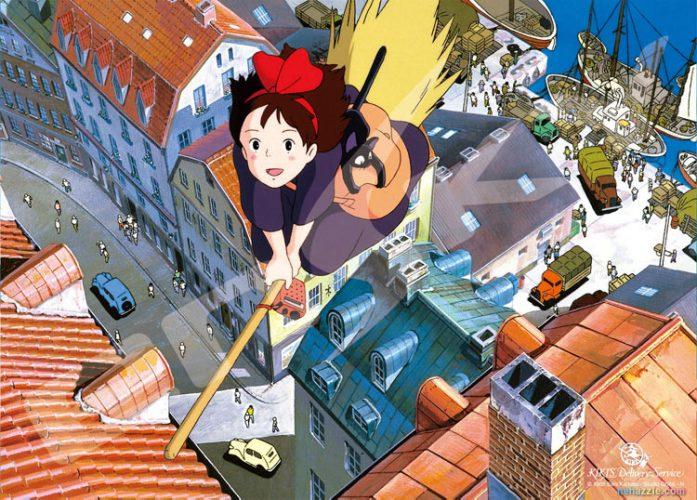 Kikis-Delivery-Service-Majo-no-Takkyuubin-Wallpaper-697x500 Top 10 Best Anime Cats as Sidekicks