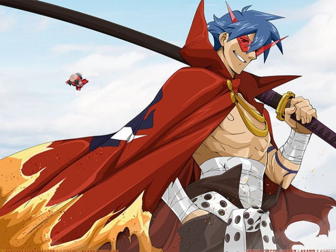 Tengen-Toppa-Gurren-Lagann-wallpaper-1-667x500 5 Best Anime Himbos - The Airheaded Heroes We Can't Help But Love