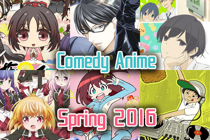 comedy-anime-spring-2016-eyecatch Comedy Anime Spring 2016 – From Feudal Japan to Classrooms and Outer Space, Laughs are Everywhere!