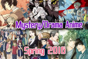 Mystery and Drama Anime Spring 2016 - Drama, Puzzles, Mysterious Disappearances & The Unexplained!