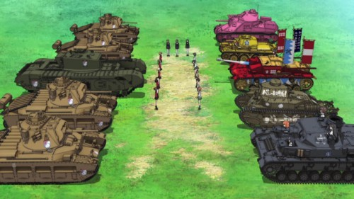 5 Girls und Panzer E3 Capture