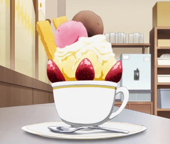Teacup-Parfait-1-Working-560x474 [Anime Culture Monday] Anime Recipes! Teacup Parfaits & Strawberry Parfaits from Working!!