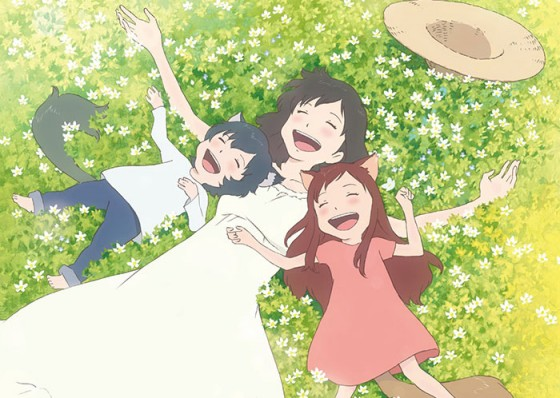 hana ookami kodomo no ame to yuki (wolf children) captured wallpaper