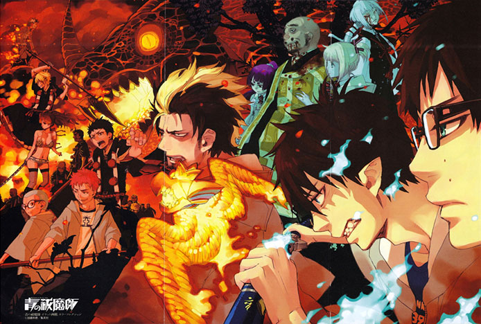 wallpaper-ao-no-Exorcist Top 10 Best Action Anime for 2017 [Best Recommendations]