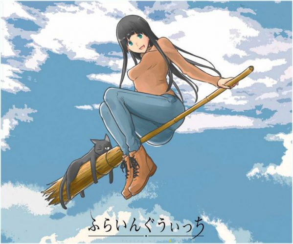 Flying-Witch-wallpaper-599x500 Top 10 Flying Anime Characters