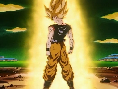 1 Dragon Ball Z capture The Super Saiyan Transformation