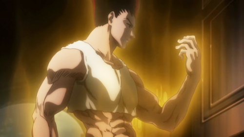 4. Hunter x Hunter capture Gon's Growth Spurt