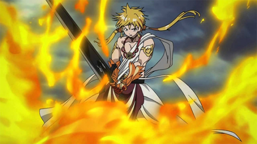 9. Magi The Kingdom of Magic capture Djinn Equip - Amon's Royal Sword