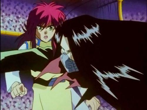 Yu Yu Hakusho Capture Karasu vs Kurama Episode 55