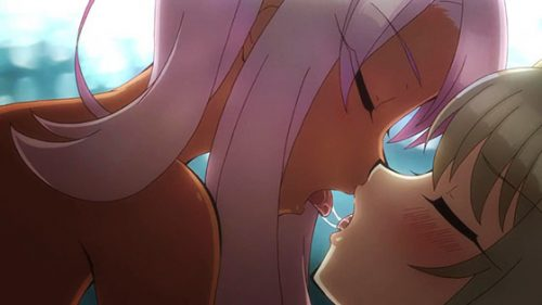 VALKYRIE-DRIVE-MERMAID-wallpaper-2-603x500 Top 10 Anime Girls Kissing Scenes