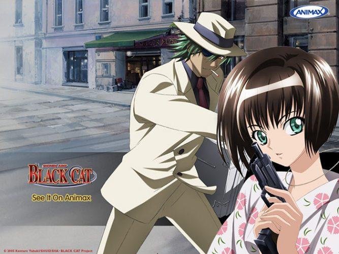 Saya-Minatsuki-Black-Cat-wallpaper-667x500 Top 10 Anime Bounty Hunters