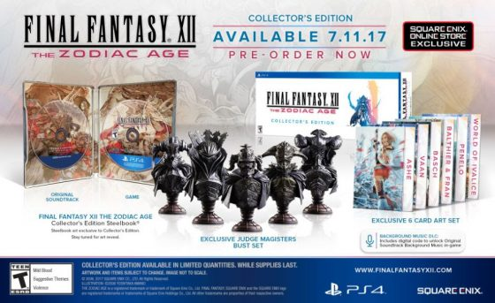 FINAL-FANTASY-XII-THE-ZODIAC-AGE-560x343 Final Fantasy XII The Zodiac Age Collector's Edition Unveiled