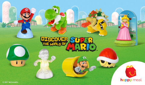 """SuperMario_HM_Toys McDonald's Happy Meals """"Power Up"""" with Toys Based on Mario and Friends"""