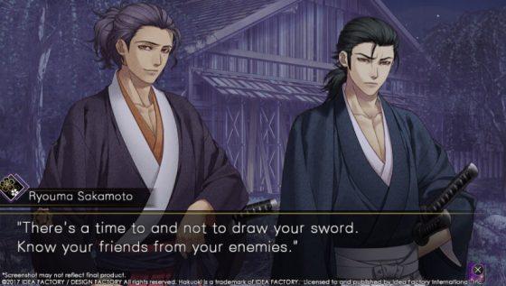 hakuoki Three Completely New Bachelors in Hakuoki: Kyoto Winds, Sakamoto, Souma, and Iba!