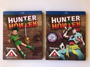 Unboxing HUNTER X HUNTER Blu-ray Volumes 1 & 2