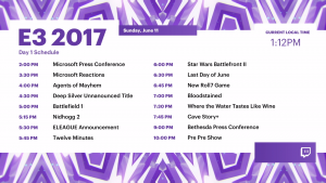 [E3 2017] Day 1 Coverage Begins on Twitch!
