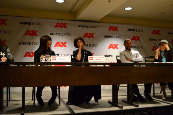 AX-2017-Press-Conference-TM-01-560x374 Hyperdimension Neptunia Creators Tsunako and Mizuno AX 2017 Press Conference