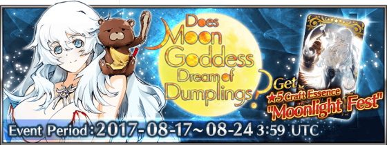 image001-560x246 Fate/Grand Order Announces Upcoming In-Game Event Does Moon Goddess Dream of Dumplings? and more at Otakon 2017