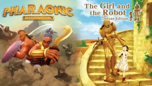 Side-scrolling combat-RPG 'Pharaonic' and action adventure puzzler 'The Girl and the Robot' hit shelves this Friday