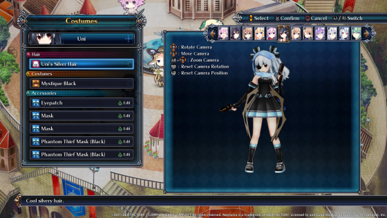 4gods Cyberdimension Neptunia: 4 Goddessses Online Customization Screenshots!