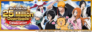 """Bleach: Brave Souls"" Reaches 25 Million Downloads Worldwide!"